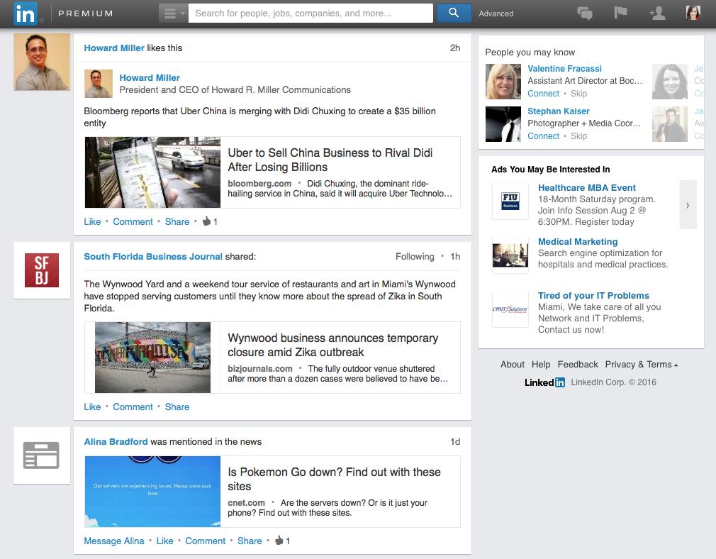 linkedin-newsfeed