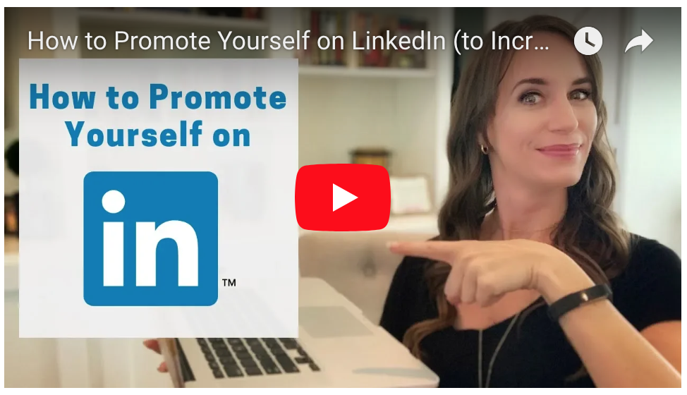 how to promote yourself on linkedin