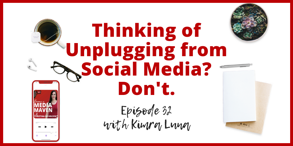 unplugging from social media