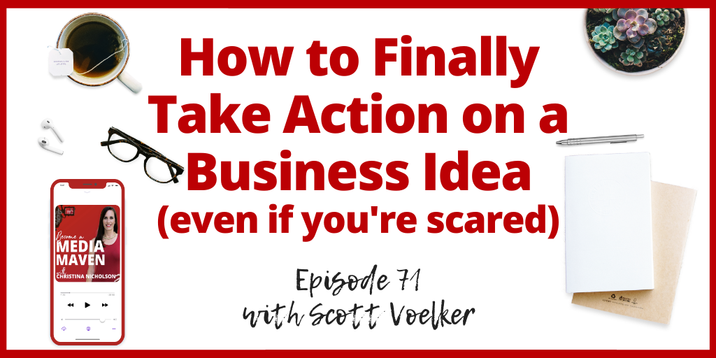 take action on a business idea
